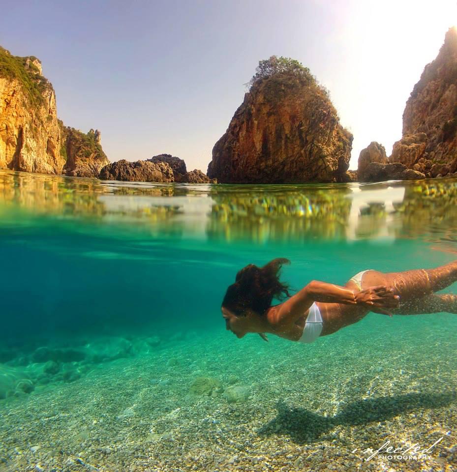 Secret paradise beach in Corfu !!