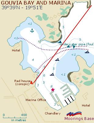 Corfu Gouvia Marina Map Of Gouvia Marina